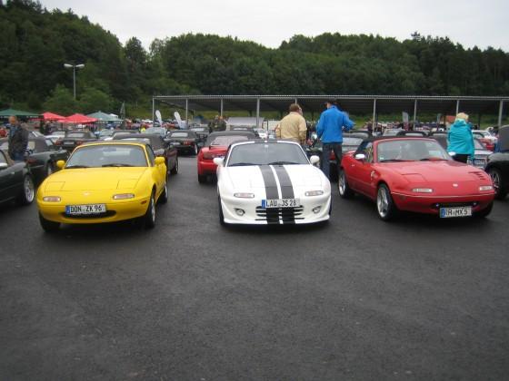 Mazda MX 5 Treffen ca. 400 MX 5 nahmen am Treffen teil