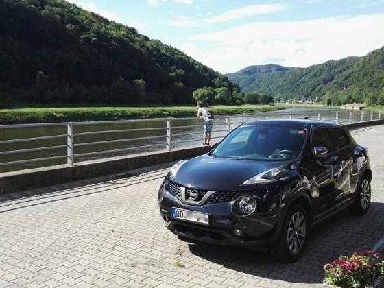 tolles Auto, tolle Aussicht - Sächsische Schweiz ;-)